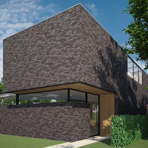 Woonhuis MNRS Eindhoven : moderne Huizen door 2architecten