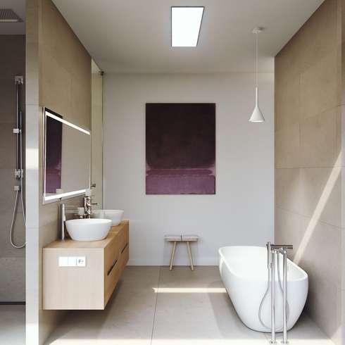 Bagno in stile in stile Mediterraneo di GESTEC. Arquitectura & Ingeniería