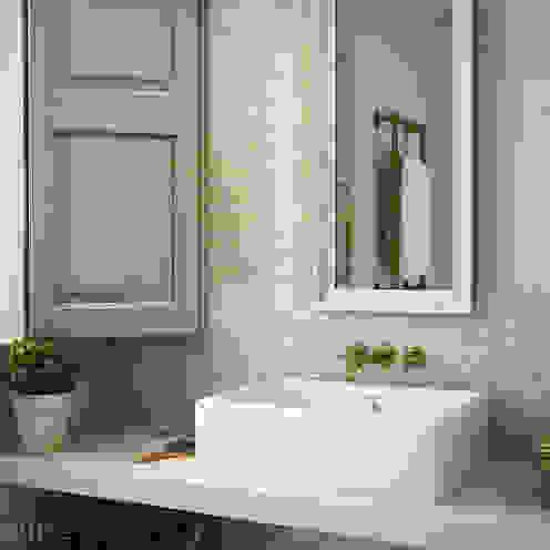 homify Mediterranean style bathroom Tiles