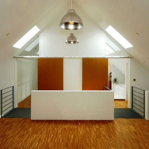 Architekten Lenzstrasse Dreizehn industrial style corridor, hallway & stairs
