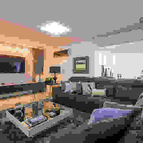 Apartamento em Cascavel Salas de estar modernas por Evviva Bertolini Moderno