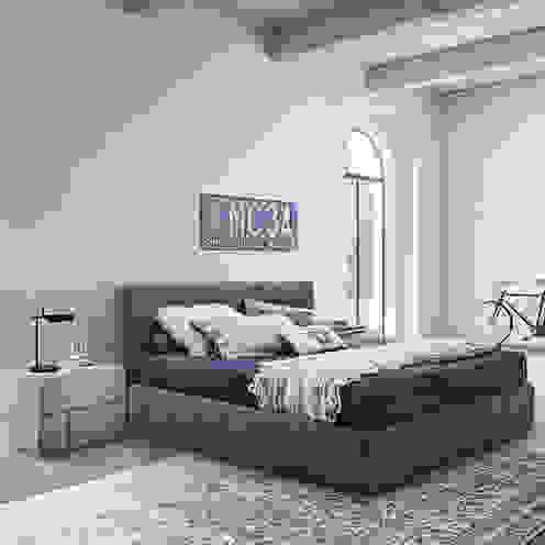 'Ascot' bed with headboard by Veneran homify BedroomBeds & headboards