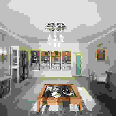 Salas de estar clássicas por Анастасия Муравьева Clássico