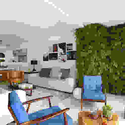 Apartamento M R Now Arquitetura e Interiores Salas de estar modernas