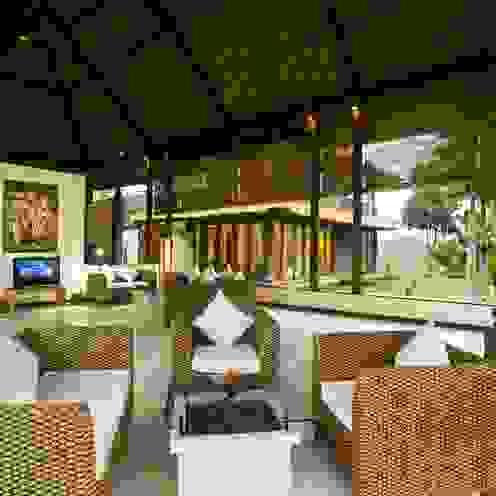 Buseck Architekten Livings de estilo asiático