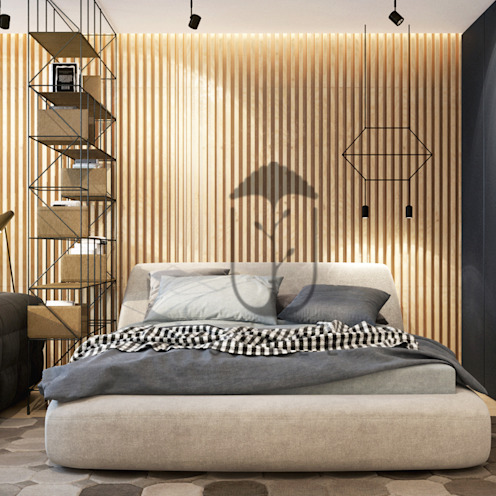 YOUSUPOVA Paredes y pisos de estilo minimalista