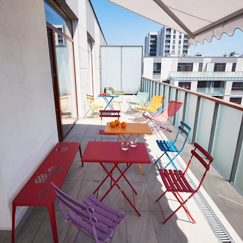 Balcon, Veranda & Terrasse de style  par Pracownia Projektowa Hanna Kłyk
