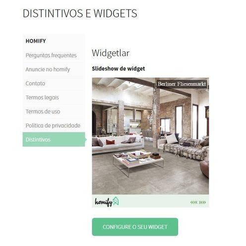 O que é um widget? Apoio homify