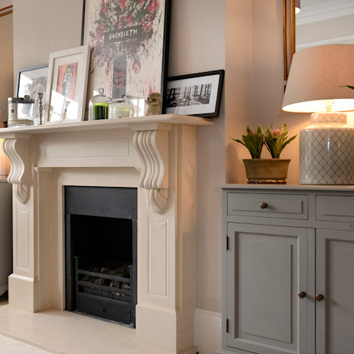 Fireplace Ruth Noble Interiors Eclectic style living room