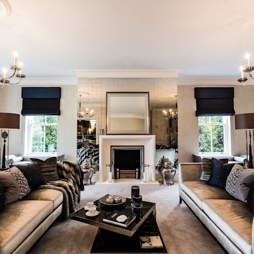 Living Room with Fireplace Luke Cartledge Photography Classic style living room