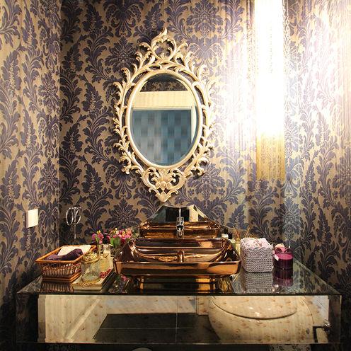 Living Room Renovation Orkun Indere Interiors Baños de estilo moderno Vidrio Azul