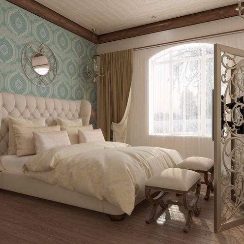 Студия дизайна Дарьи Одарюк Dormitorios de estilo mediterráneo Multicolor