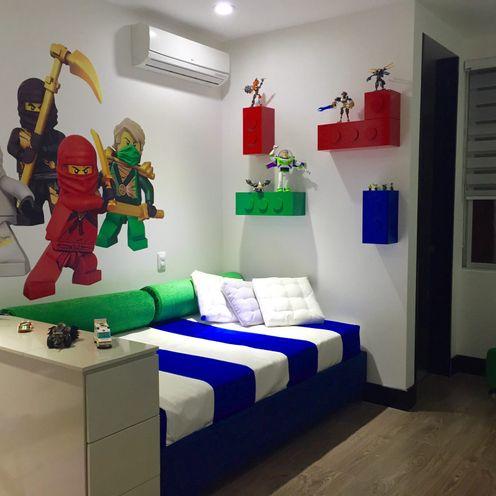 Habitación Lego ea interiorismo Dormitorios infantiles de estilo moderno
