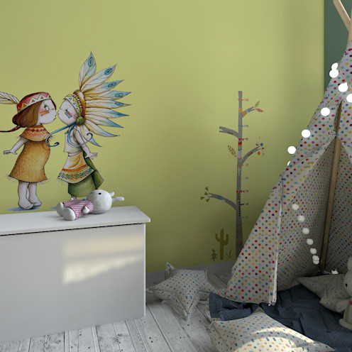 MJ Intérieurs Dormitorios infantiles de estilo ecléctico