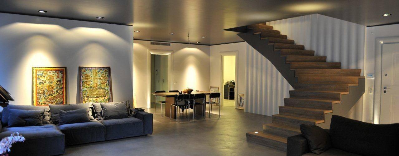 Livings de estilo  por Fugenlose  mineralische Böden und Wände