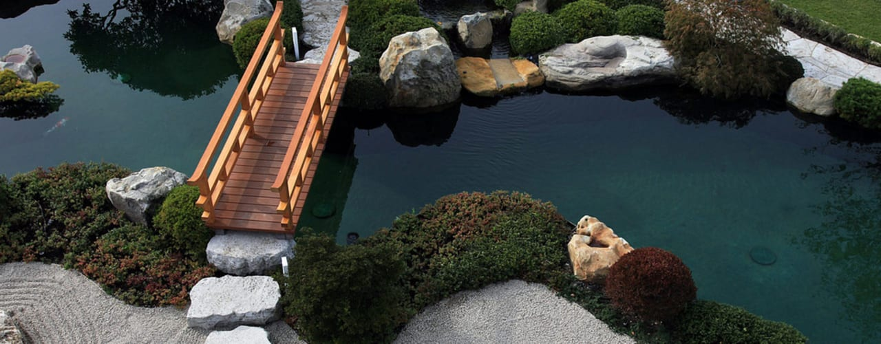 Jardines de estilo  por Kirchner Garten & Teich GmbH, Asiático