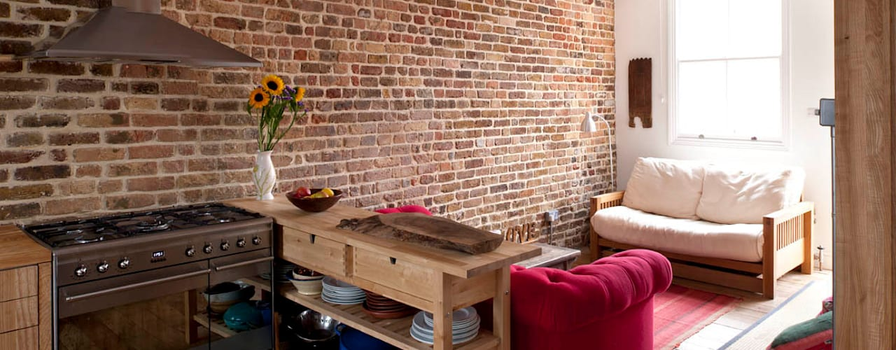 Falkirk St MDSX Contractors Ltd Industrial style living room