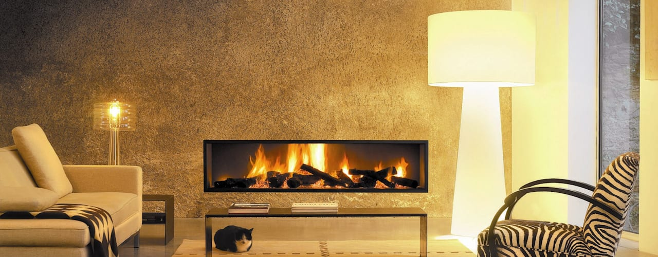 Neofocus Fireplace de Diligence International Ltd Moderno