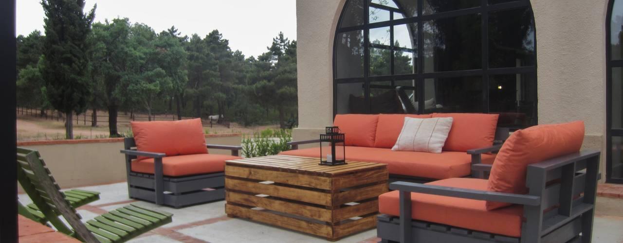 Rustic style garden by interiorismo estudio apunto Rustic
