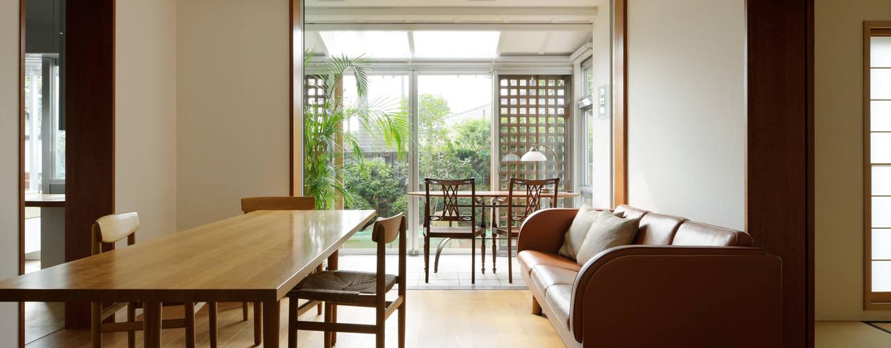 Re-KOH House 1985~2015 Kikumi Kusumoto/Ks ARCHITECTS モダンデザインの リビング