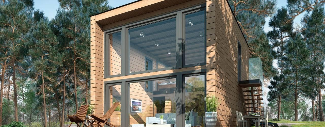 Cabanes en bois de style  par THULE Blockhaus GmbH - Ihr Fertigbausatz für ein Holzhaus, Moderne