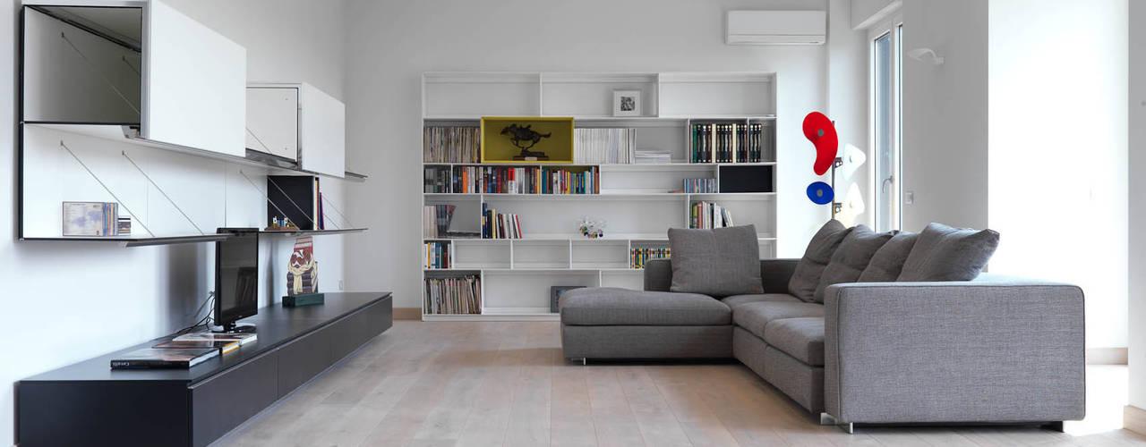 enzoferrara architetti Modern Living Room