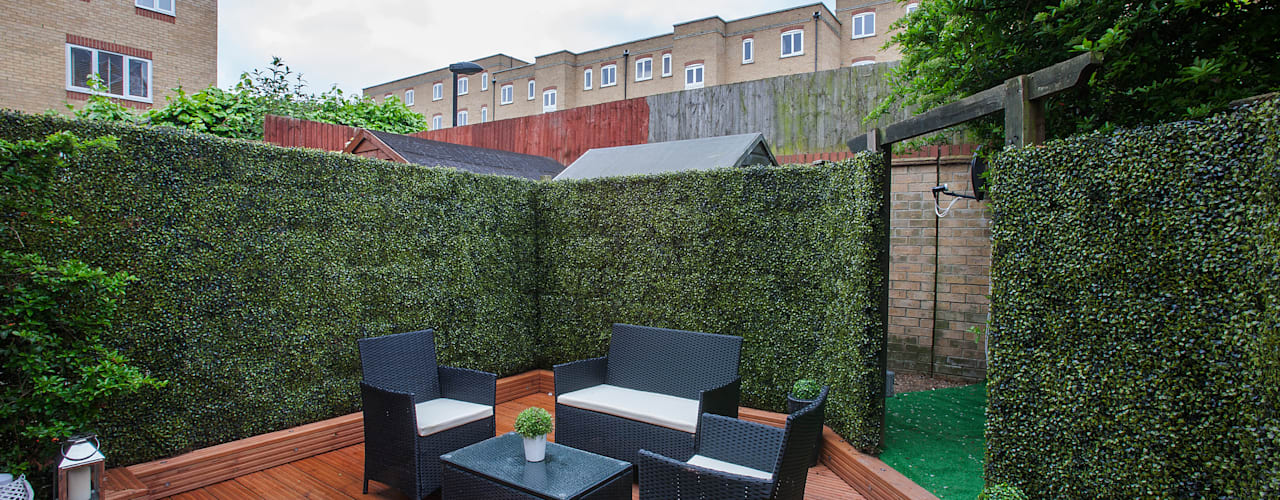 Garden - Canary Wharf Jardin moderne par Millennium Interior Designers Moderne