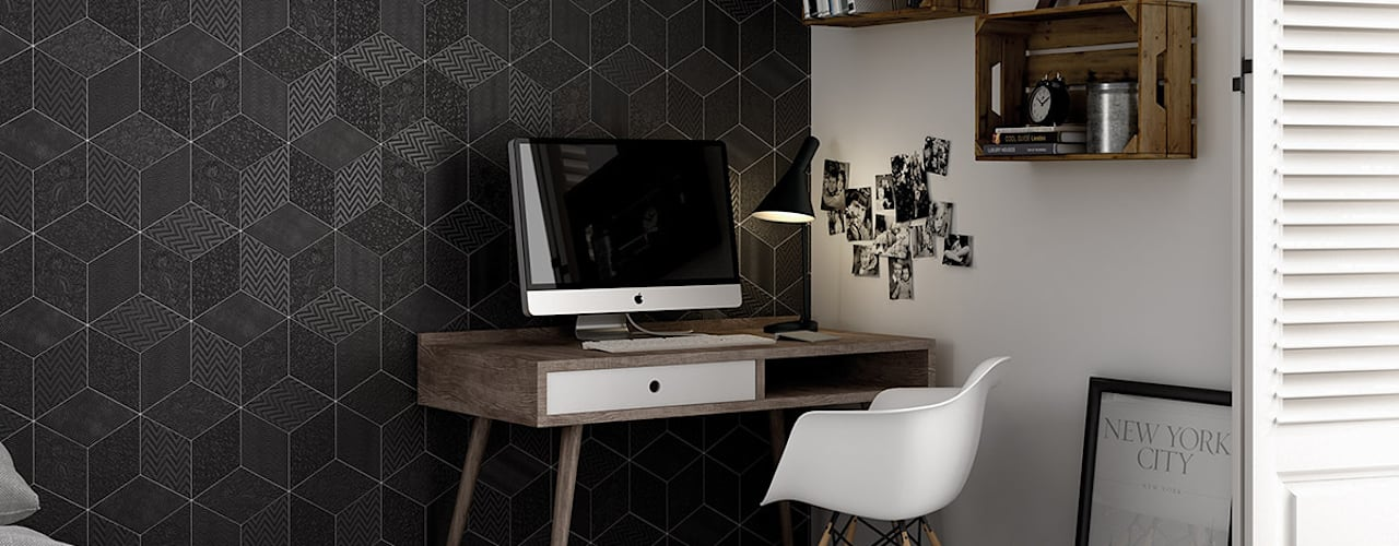 Equipe Ceramicas Modern Study Room and Home Office