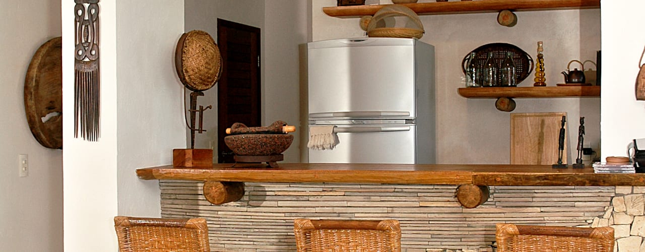 Bodegas de estilo rural de Isnara Gurgel - Arquitetura + Interiores