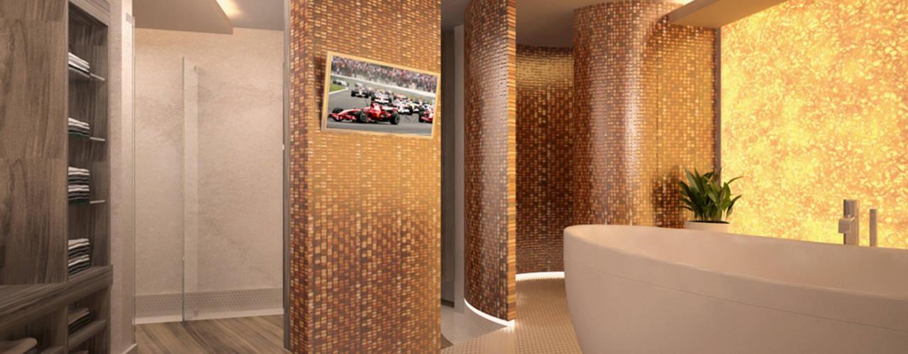 Sanierung eines Badezimmers mit neuer Innenarchitektur - Burgdorf:  Badezimmer von GID│GOLDMANN-INTERIOR-DESIGN - Innenarchitekt in Sehnde,