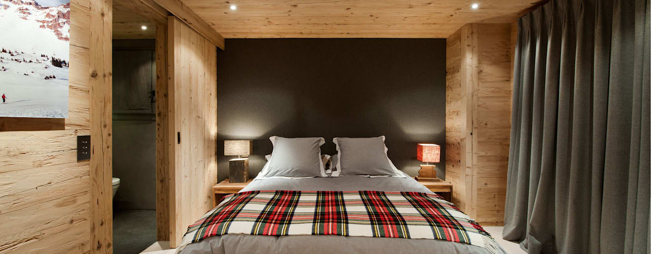 Chalet Gstaad:  Bedroom by Ardesia Design