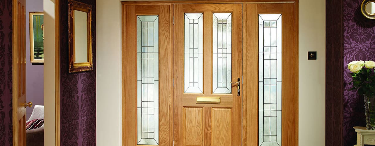 External door sets with sidelights par Modern Doors Ltd Moderne