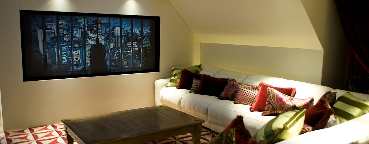 Lakeview cinema 根據 London Residential AV Solutions Ltd 現代風