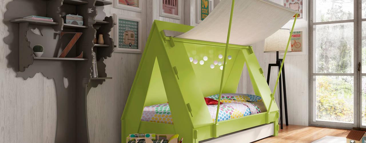 KIDS TENT BEDROOM CABIN BED in Green Cuckooland Modern