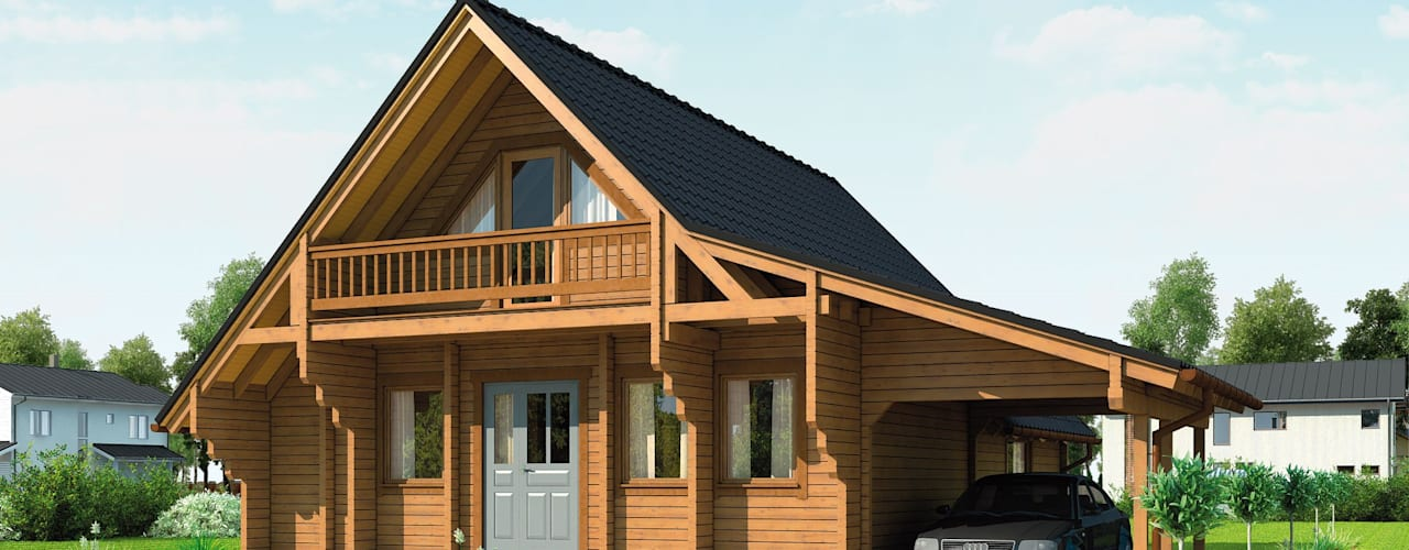 Scandinavian style houses by THULE Blockhaus GmbH - Ihr Fertigbausatz für ein Holzhaus Scandinavian