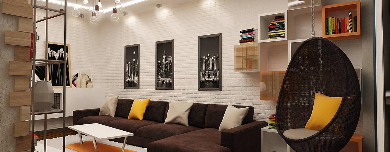 Phòng khách phong cách công nghiệp bởi studio forma Công nghiệp