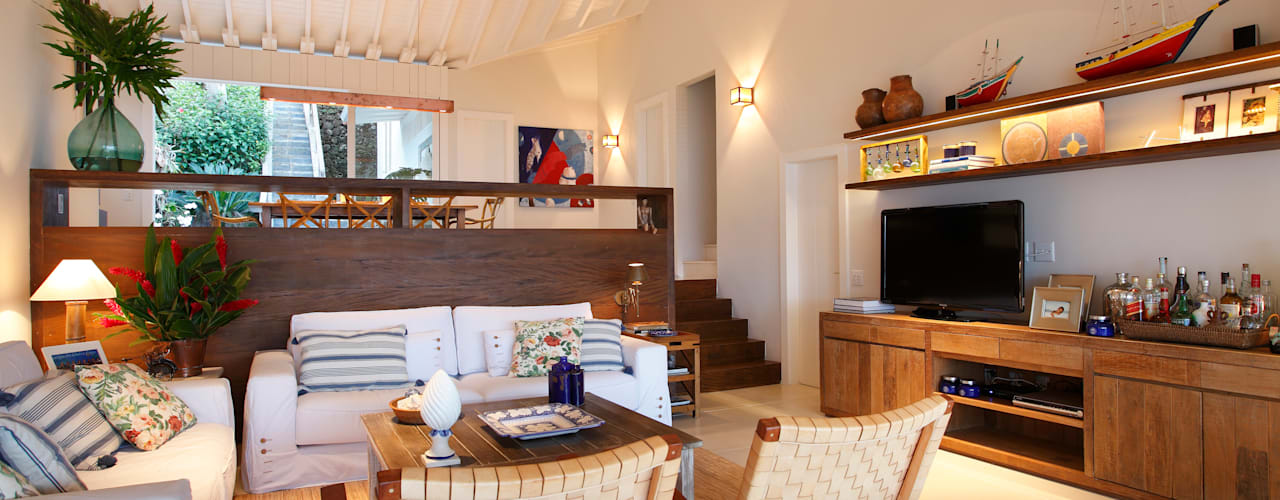 Salas de estilo rural de Escala Arquitetura Rural