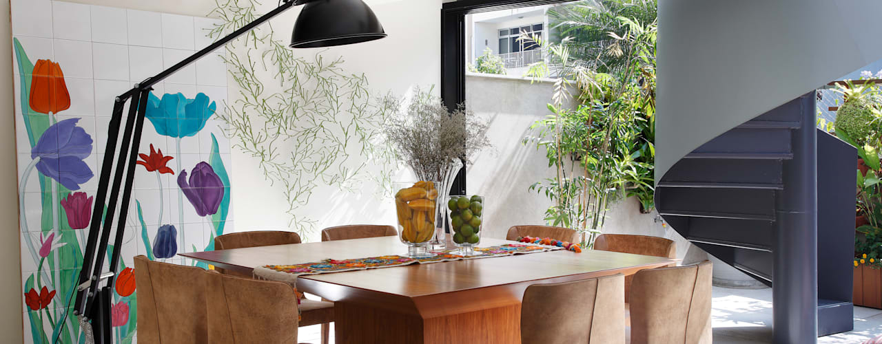 Escala Arquitetura Eclectic style dining room