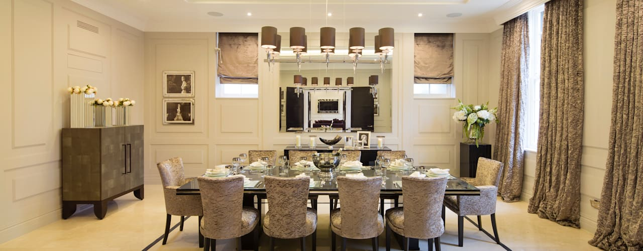Fairways at the Bishops Avenue Modern Dining Room by Celia Sawyer Luxury Interiors Modern