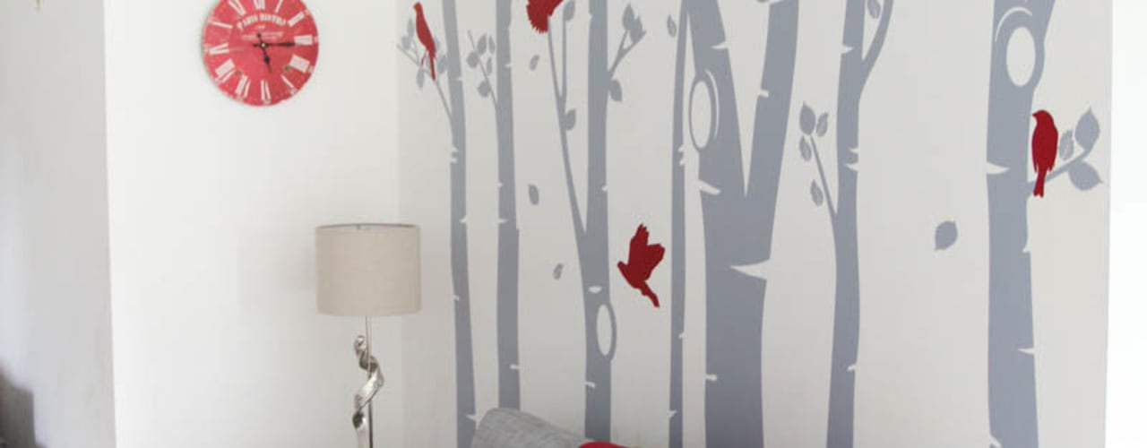 Birch Tree Forest wall sticker Vinyl Impression Pareti & PavimentiDecorazioni per pareti