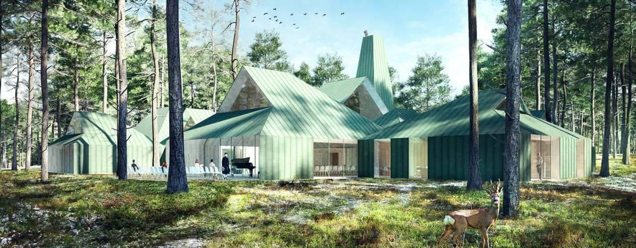 Moderne musea van Berga&Gonzalez - arquitectura y render Modern