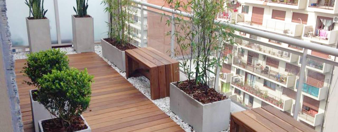 Teras oleh Estudio Nicolas Pierry: Diseño en Arquitectura de Paisajes & Jardines, Modern