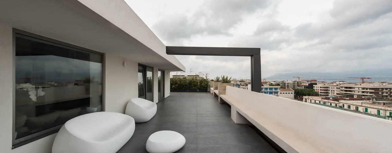 Balcon, Veranda & Terrasse minimalistes par Mobilificio Marchese Minimaliste