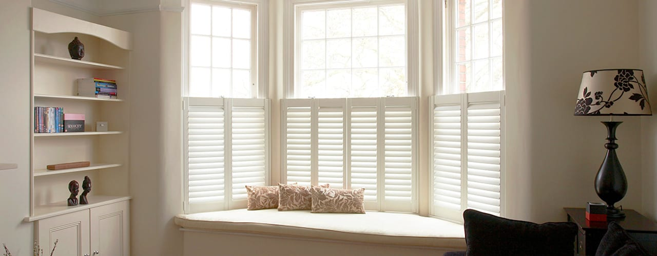 Cafe Style Shutters for Bay Windows:   by Plantation Shutters Ltd
