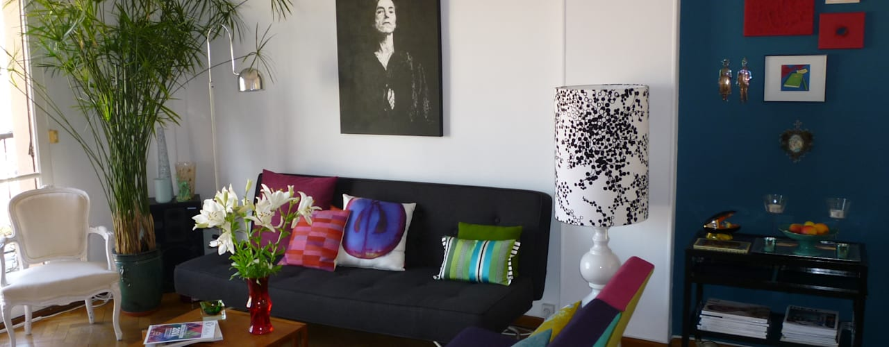 eclectic Living room by Emmanuelle Diebold