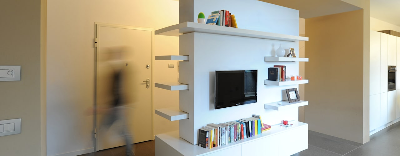 Salones minimalistas de GRAZIANI & DICEMBRINO Minimalista