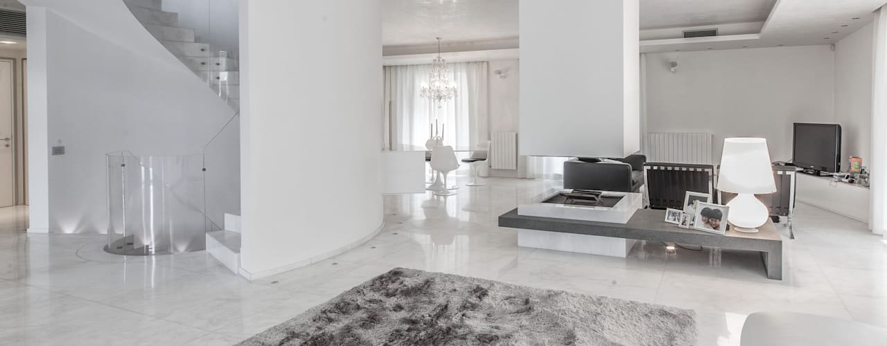 minimalistische Woonkamer door StudioG