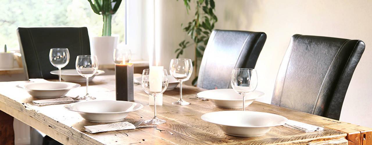 dining table Wiejska jadalnia od edictum - UNIKAT MOBILIAR Wiejski