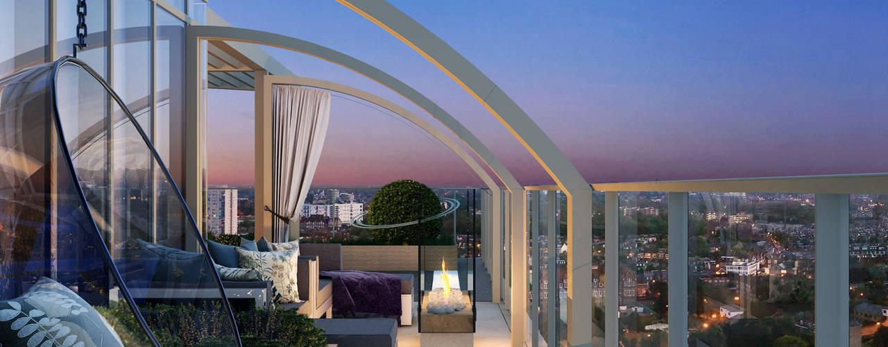 Chelsea Creek: High End Roof Terraces Jardines de estilo moderno de Aralia Moderno