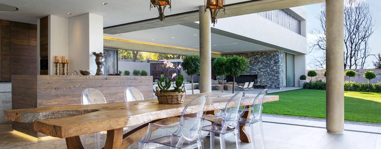 House 01, Hyde Park Salas de jantar modernas por Daffonchio & Associates Architects Moderno